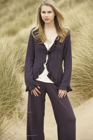 Tanya Sarne purple trouser outfit high res