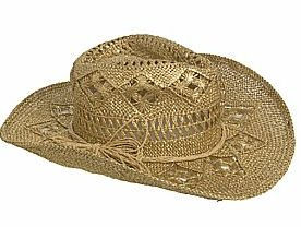 Open weave cowboy hat new look