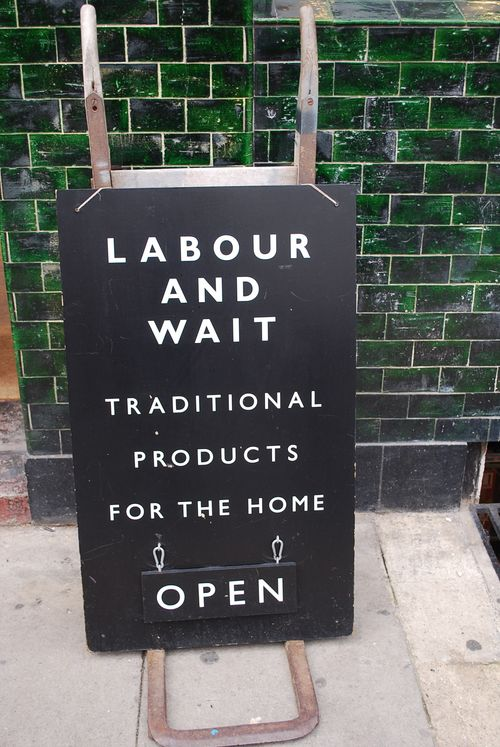 Labour and wait chalk board