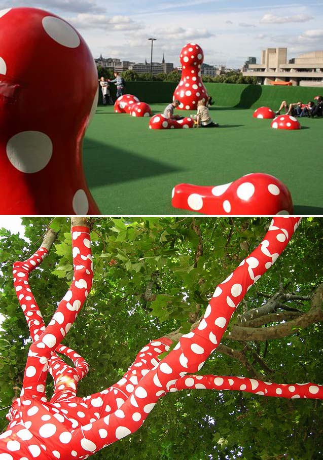Yayoi Kusama on the Southbank