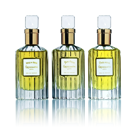 Three grossmith bottles