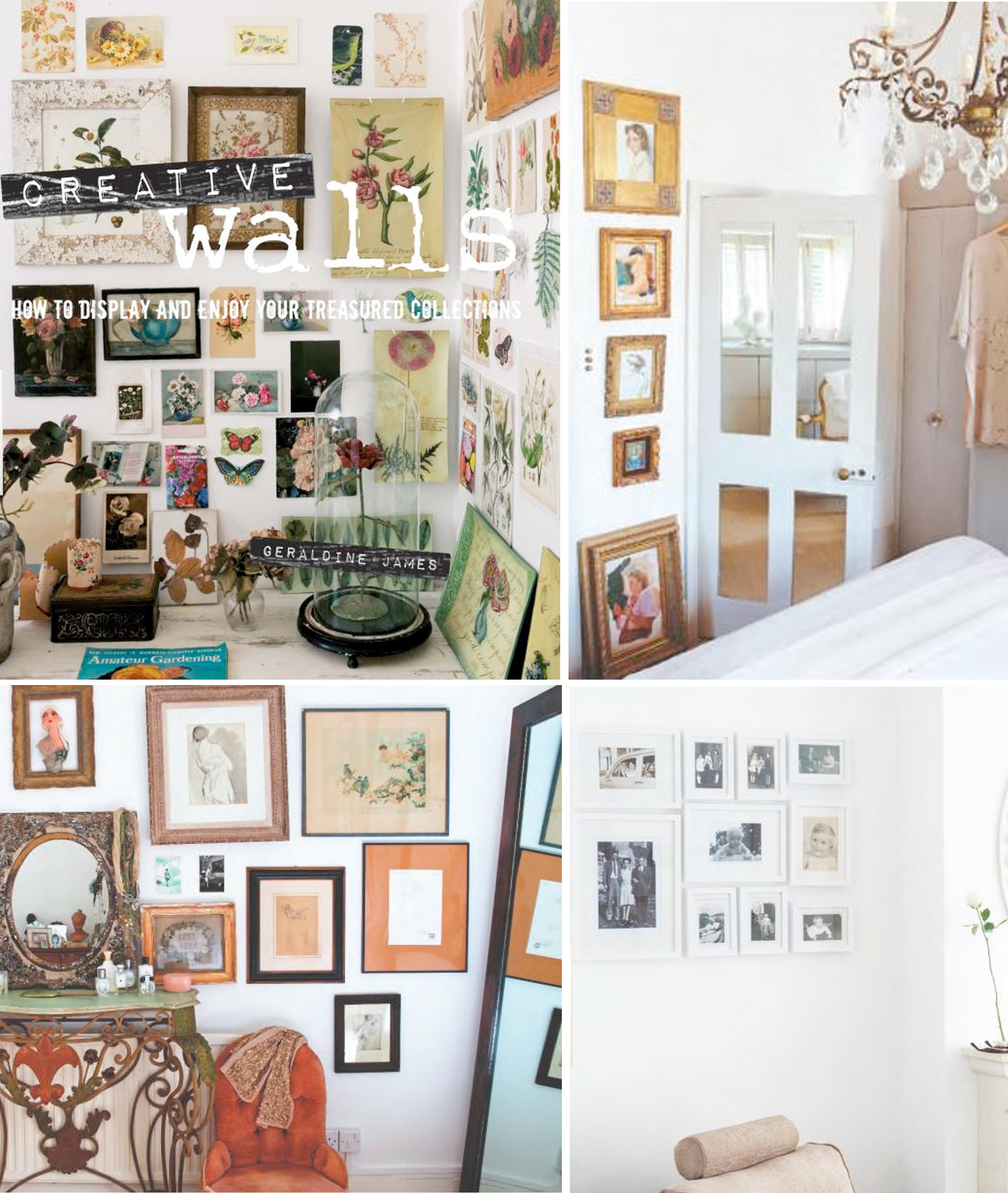 Creative Walls And Modern Vintage By Geraldine James The