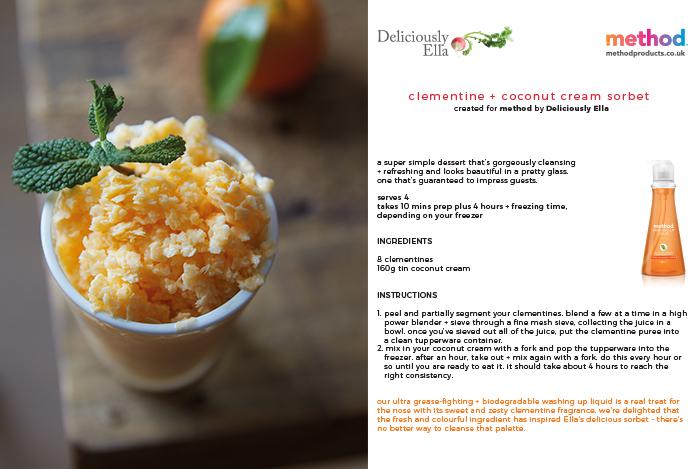 Clementine & cocnut cream