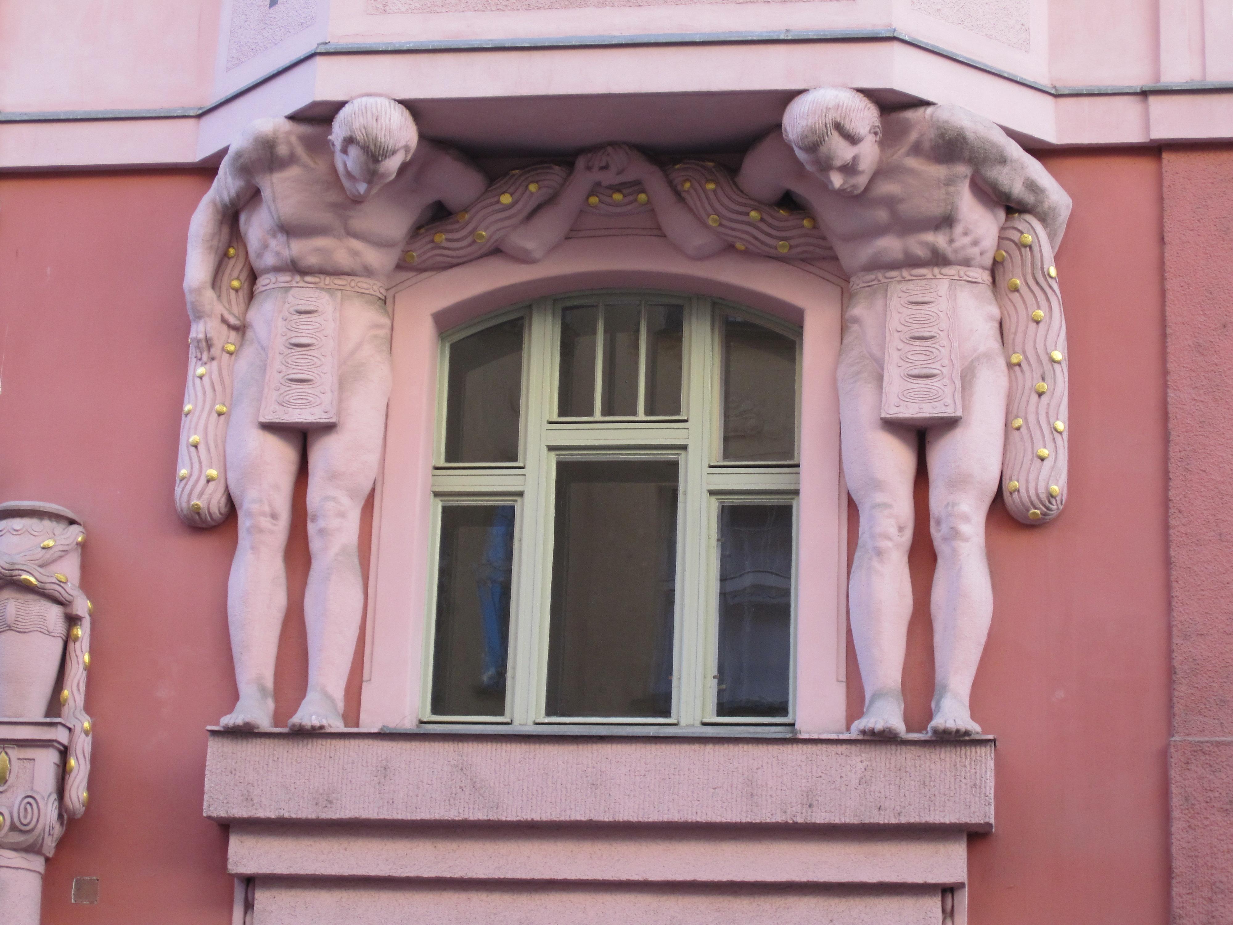 Detail Cubist houses Prague