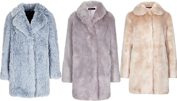 M&S fuax fur coats