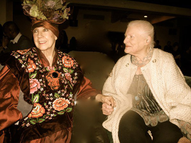 Molly Parkin and Diana Athill at the Literary Salon last year