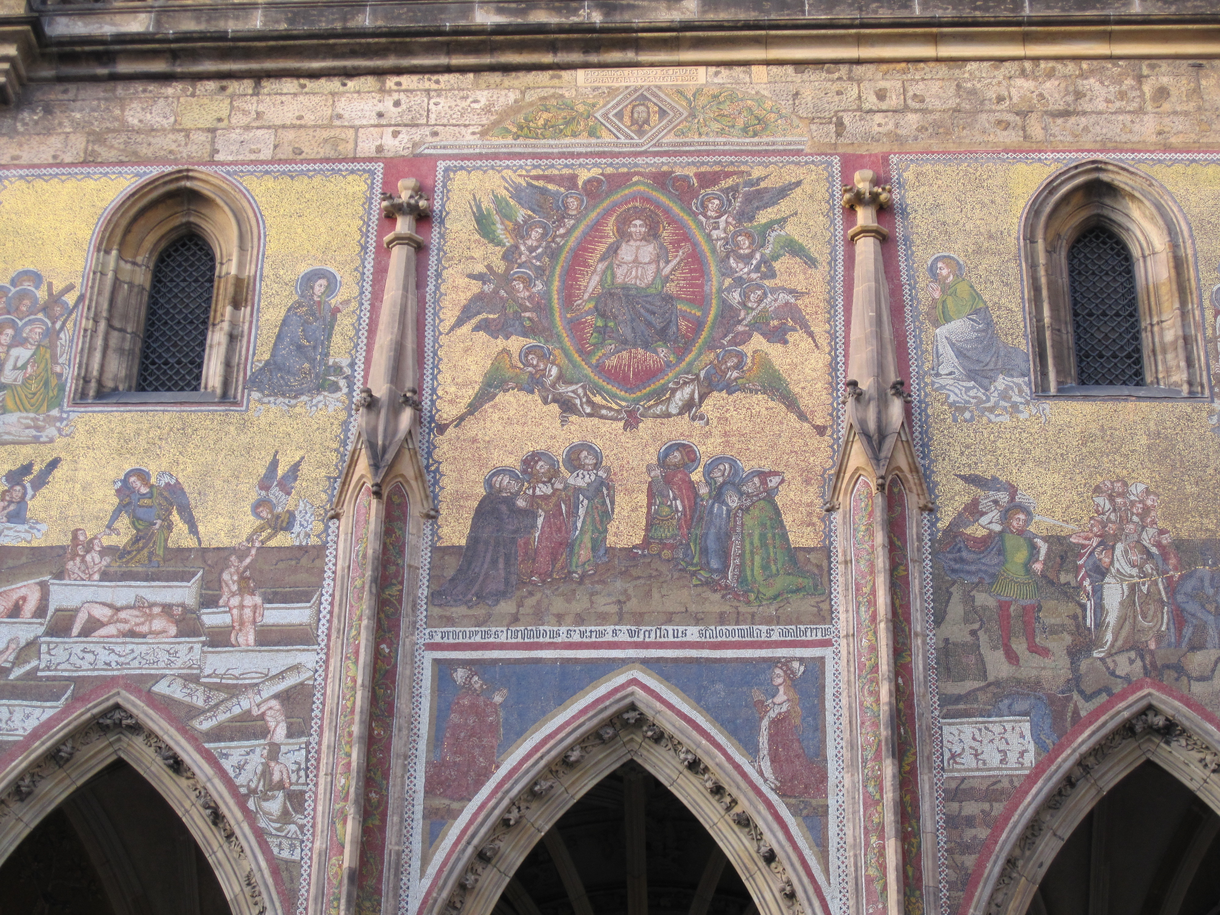 Mosaic panels St Vitus cathedral