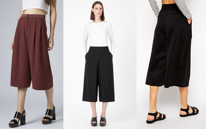 Top Shop COS ASOS culottes
