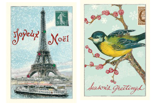 Vintage Style Christmas Cards With Glitter The Womens Room