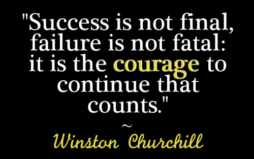 Winston Churchill Success Is Not Final