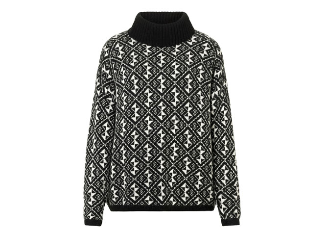 benetton_black_and_white_sweater
