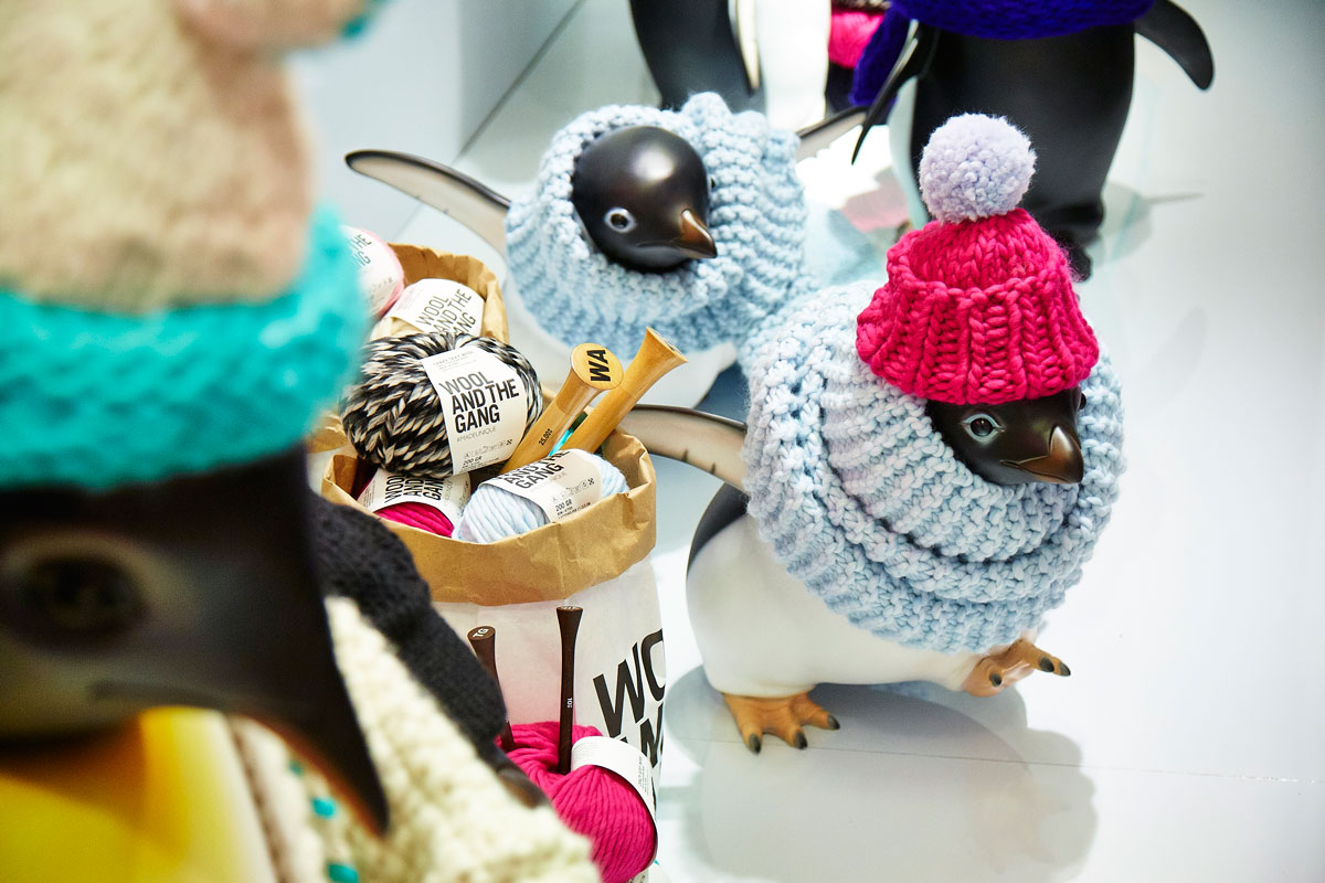 John Lewis Penguins get their knit on with Wool & The Gang The Womens Room