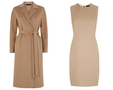 Jaeger double face wool cashmere coat and dress