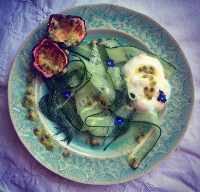 cucumber-passion-fruit-salad