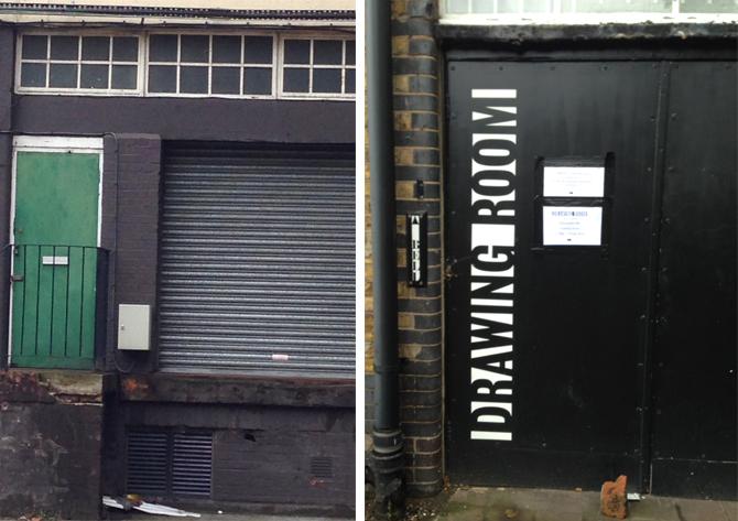 Secret doors hiding gallery space