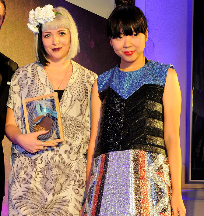 Emma Shipley and Susie Bubble at the WGSN Global Fashion Awards