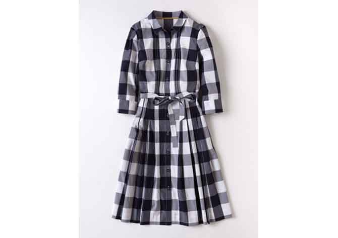 gingham check dress boden