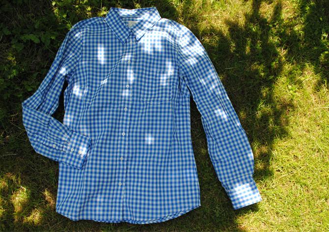 gingham shirt gap