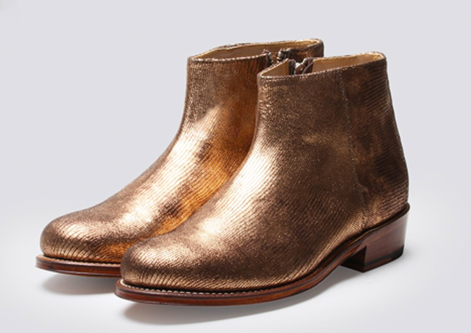 grenson's gold shoes