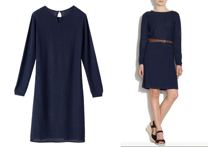 navy dress apc