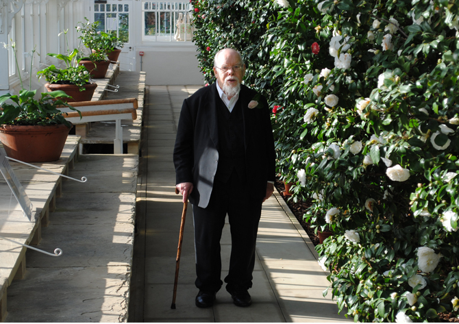 peter blake at chiswick house camelia festival on the womens  room
