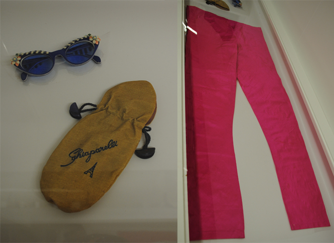 Elsa Schiaparelli's personal effects, including her signature shocking pink silk dupion bias cut trousers