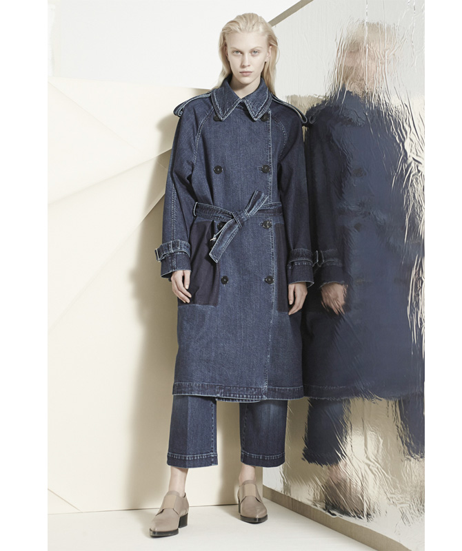 stella mccartney denim trench