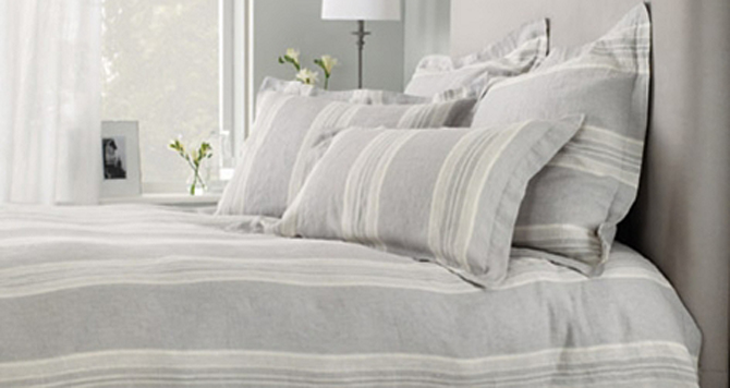 striped belgian linen
