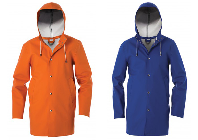 stutterheim raincoats on the womens room