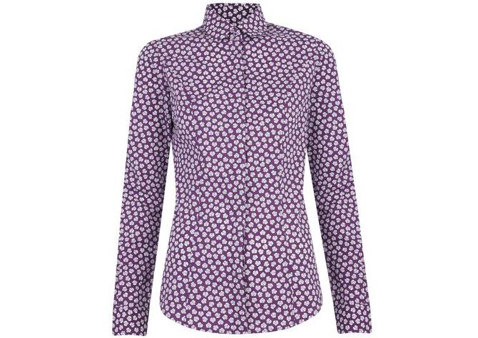 tm lewin purple shirt